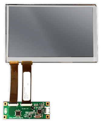 "7"" 800X480 WSVGA 500 nits with P-cap touch Display Kit"
