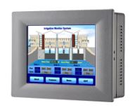 "5.7"" Non-flat touch screen IP65 certified traditional TPC front panel, Intel Atom E3827 based with Mini-PCIe and iDoor Module Expansion"
