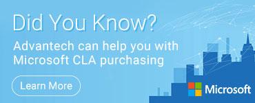 Microsoft CLA available through Advantech