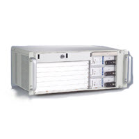 4U 6-Slot CompactPCI<sup>®</sup> Enclosure with cPCI Power Supply and Removable HDD Bay (Non-CT Bus)