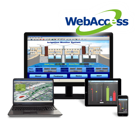 Advantech WebAccess is browser-based software package for human-machine interfaces (HMI), and supervisory control and data acquisition (SCADA). All the features found in conventional HMI and SCADA software packages are available in an ordinary browser including Animated Graphics Displays, Real-time Data Control, Trends, Alarms and Logs.