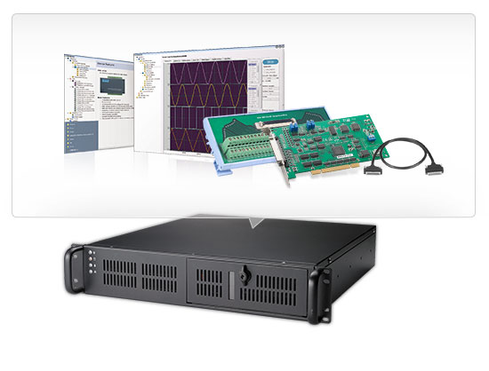 4th Gen Intel Core™ Intel Multifunctional 2U Rackmount DAQ Starter Kit with 16-ch Multifunction Card, Free DAQ SW, Cables & Wiring Board
