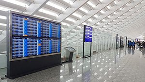 Advantech Digital Signage in Taiwan Taoyuan International Airport
